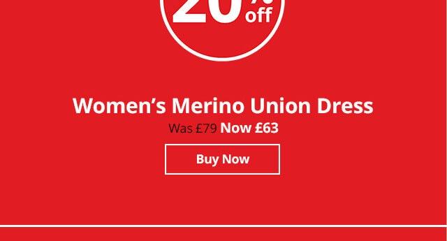 Shop Women's Merino Union Dress
