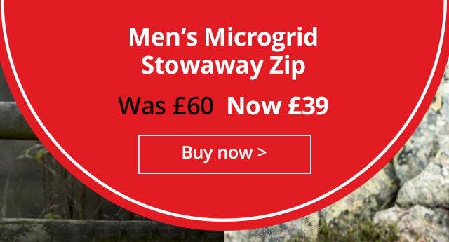 Shop Men's Microgrid Stowaway Zip