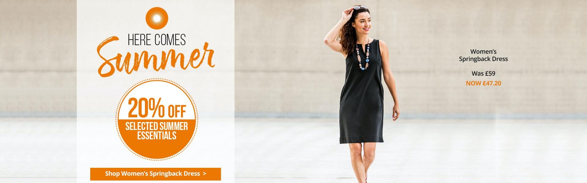 Shop Women's Springback Dress