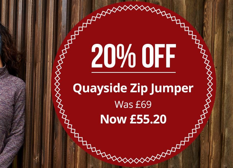 Shop Women's Quayside Zip Jumper