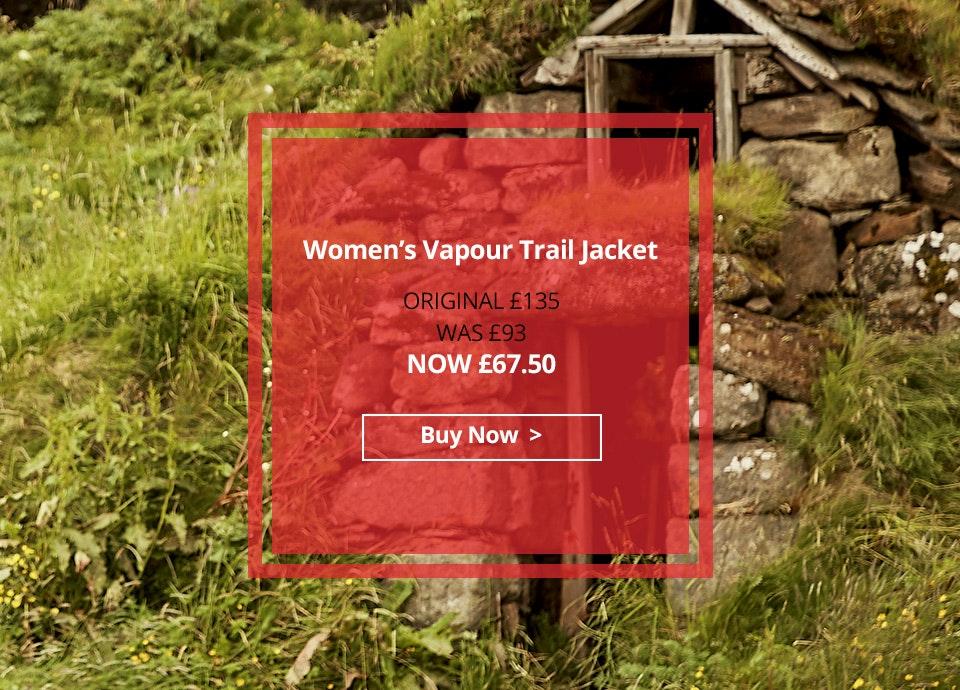 Women's Vapour Trail Jacket. Now £67.50.