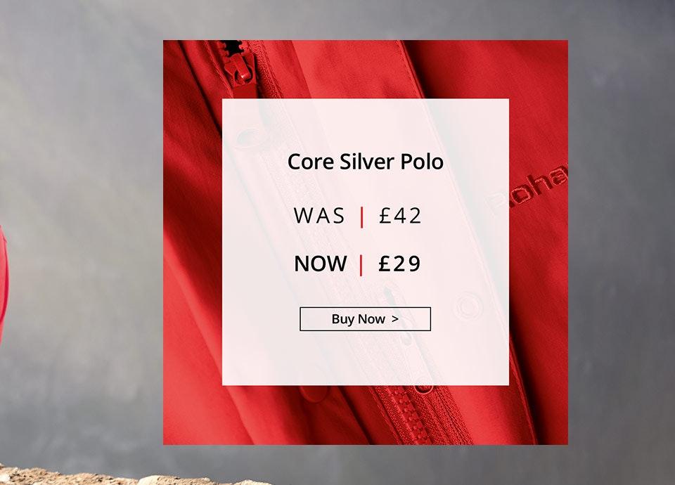 Shop Men's Core Silver Polo