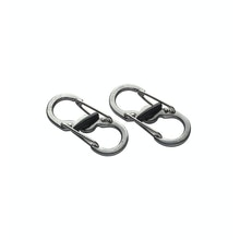 Compact, twin ended karabiner clip.