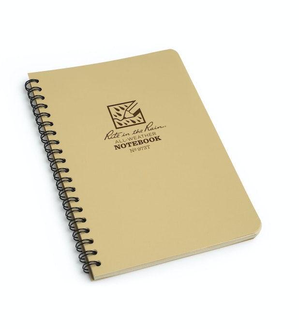 All-weather Universal Notebook - Water-shedding, all-weather notebook.