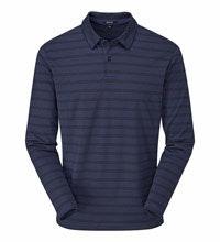 Technical long sleeve polo shirt.