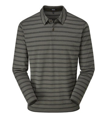 Technical long sleeve polo shirt.