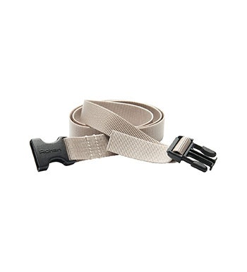 Tough, quick-drying webbing belt.