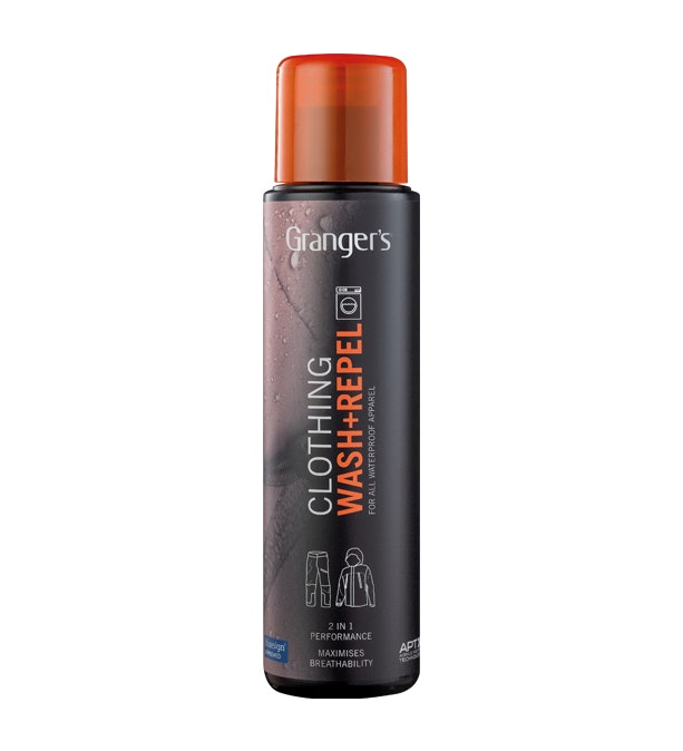 2-in-1 Wash and Repel  - Wash-in treatment to clean and restore water-repellency.