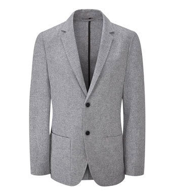 Technical, smart-casual linen jacket.