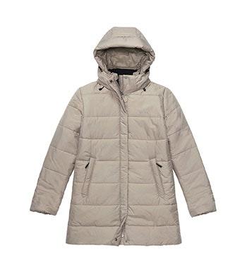 Warm, functional, 3/4 length town coat.