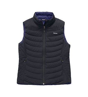 Down padded gilet with Insuloft™ panels.