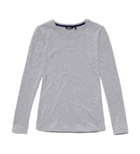 Technical, cotton-feel crew neck T.