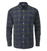 Smart, crease-resistant, quick-drying travel shirt.