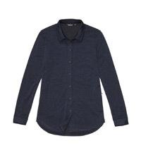 Versatile, merino-blend travel shirt.