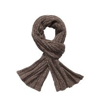 Knitted-effect scarf.