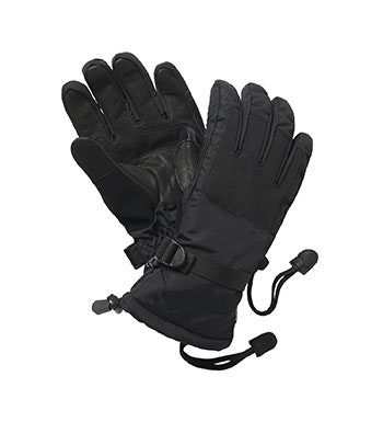Fully waterproof, wadded winter gloves.