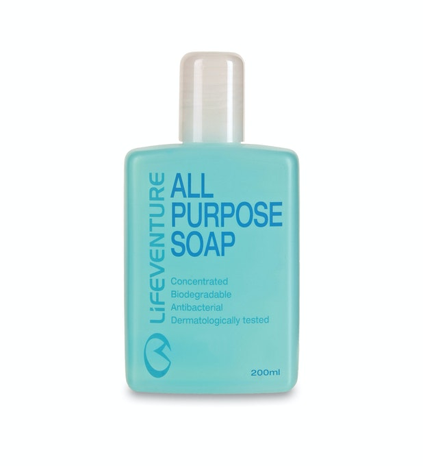 Lifeventure® All Purpose Soap 200ml - Biodegradable all-purpose soap.