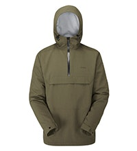 Lightweight, waterproof, pull-over style jacket.