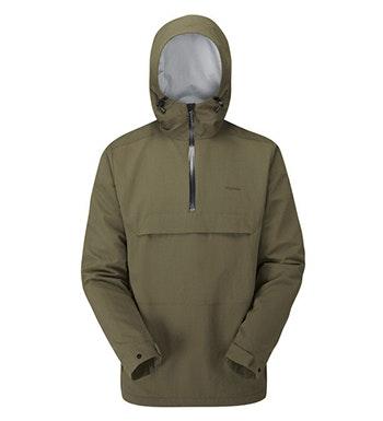 Lightweight, waterproof, pull-over style jacket.