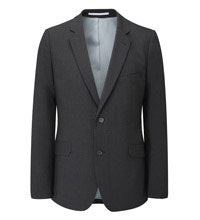 Machine washable, technical travel suit jacket.