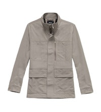 Practical, 10-pocket canvas jacket.
