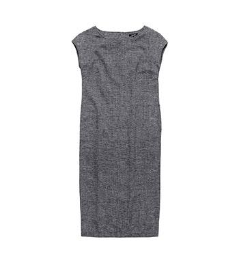 Relaxed, maxi length linen-blend dress.