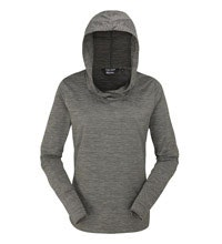 Lightweight hooded top with insect protection.