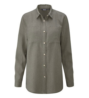 Relaxed fit linen-blend shirt.