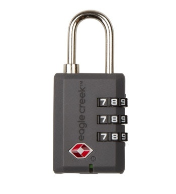 Eagle Creek™ - lightweight combination luggage lock. Travel Sentry™ certified.