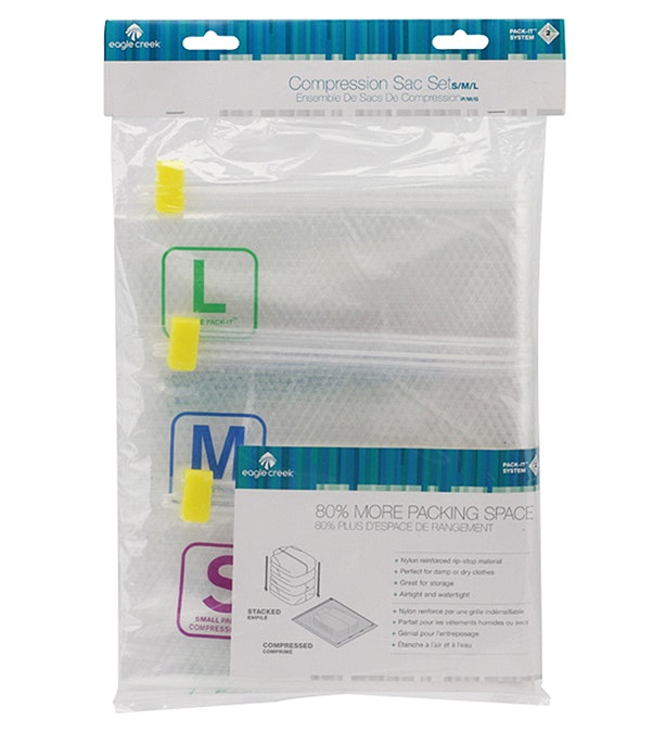 Pack-It™ Compression Set S - M - L - Eagle Creek - Save up to 80% of your packing volume.