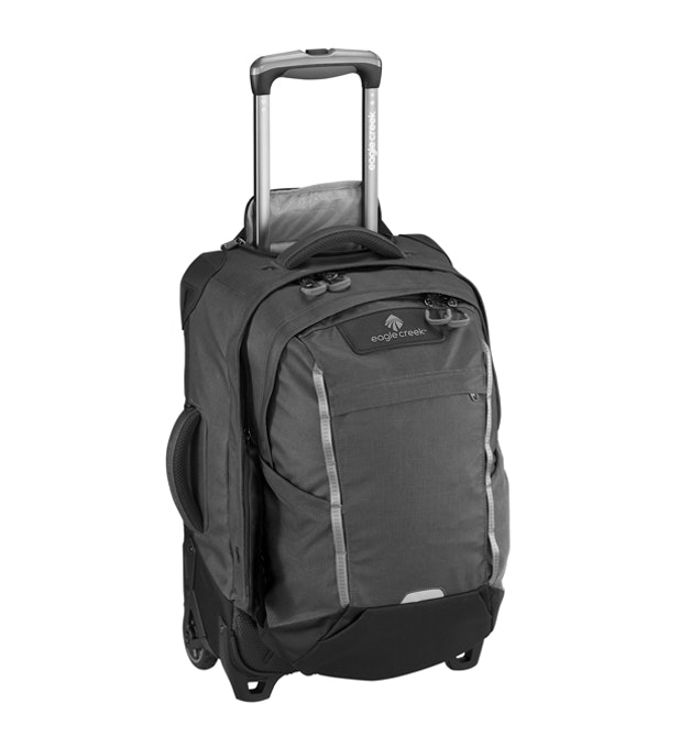 Switchback International Carry On - Eagle Creek - wheeled 30L suitcase with detachable daypack.