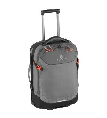 Eagle Creek - 30L wheeled carry on that converts to a backpack.