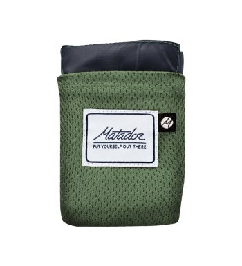 Water and puncture-resistant packable blanket.