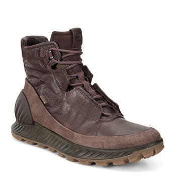 Lace up waterproof walking boots.