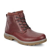 Leather lace up hiking boot.