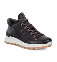 Lace up waterproof hiking shoes.