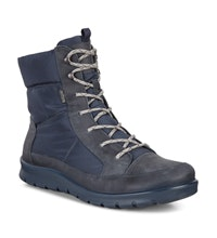 Waterproof mid-cut lace up boot.