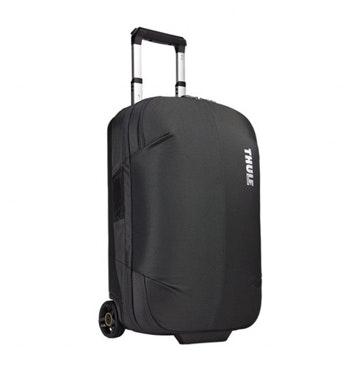 Wheeled carry-on bag.