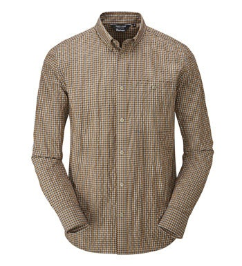 """<a href=""""/mens-anti-insect-clothing-for-outdoors-and-travel """" class=""""hide-us"""" style=""""color:#d3771c;font-weight:bold"""">Insect Shield offer available - click here*</a><span class=""""hide-uk"""">Smart-casual shirt with UV and insect protection.</span>"""