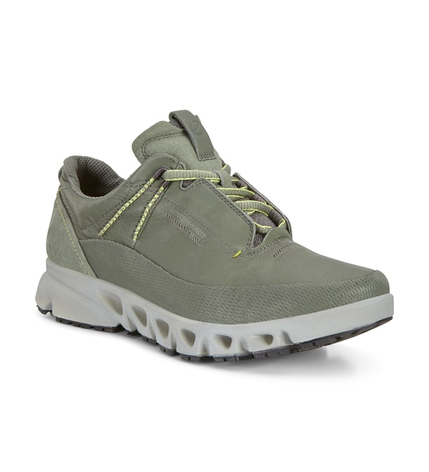 Ecco Omni-Vent Canas - Tough leather outdoor trainers.