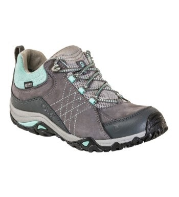 Rugged, waterproof walking shoe.