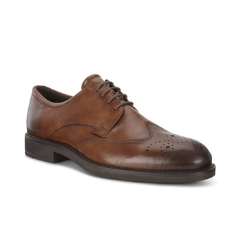 Elegant Brogue Derby style shoe with Fluidform™ technology.