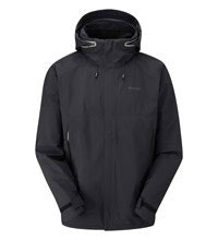 Waterproof and breathable jacket for active outdoor use.