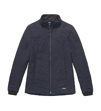 Lightweight, versatile wadded jacket.