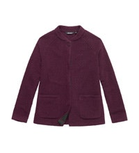 Warm, wool-blend coat for winter travel.