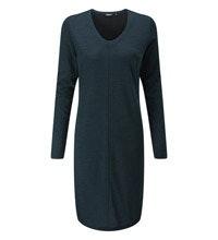 Technical, wool-blend travel dress.