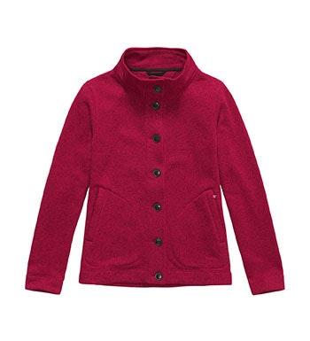 Lightweight, button-through fleece cardigan.