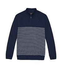 Classic, 100% extrafine merino half-zip pullover.