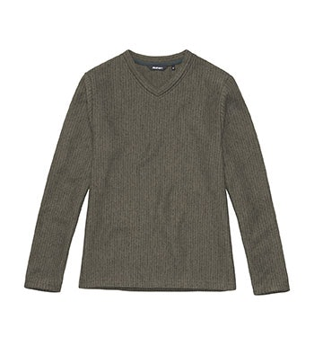 Lightweight, casual v-neck pullover.