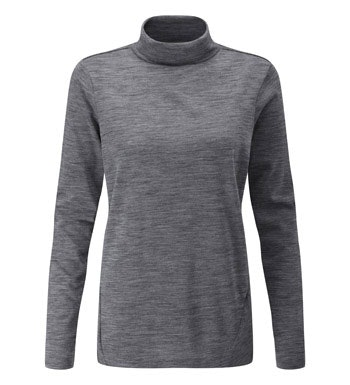 Soft, merino-blend top or technical base layer.